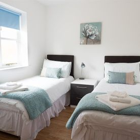 two single beds which can be converted to a kingsize double